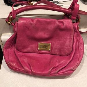Marc by Marc Jacobs Pink Leather Crossbody Purse